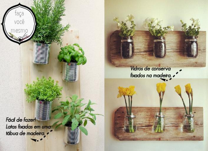 jardim vertical latas : jardim vertical latas:Otomes Criativas: 20 ideias para seu Jardim Vertical